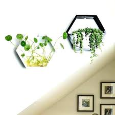 wall plant hangers pots fashion simple home polygon creative past flowers and plants hydroponic brick metal