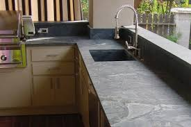 soapstone outdoor kitchen countertops barbecue and sink