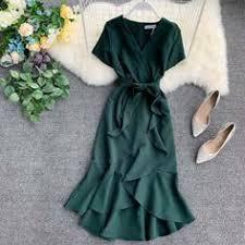 | <b>NiceMix 2019</b> Summer Lady Causal Ruffled Short-sleeved Wrap ...
