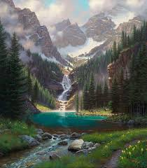 paintings of mountains and lakes 243 best lakes rivers streams mountains images on
