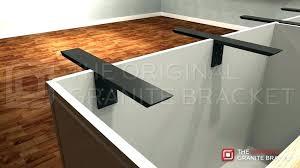 t brace support bracket the original granite braces metal countertop brackets decorative