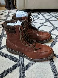 men s cole haan leather lockridge waterproof boot brown grand os us size 9