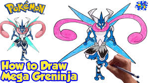 How to Draw Mega Greninja from Pokemon | Step by Step drawing - YouTube