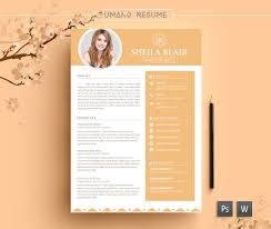 Resume Template Free Ai Flat Resume With Infographics Ai