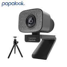 60FPS 1080P Webcam PC, PAPALOOK PA930 2K HDR Streaming Live Web Kamera mit  Dual Stereo Mic 90 Grad Winkel für OBS/SKYPE/ZOOM|Webcams