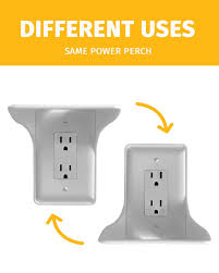 Amazon.com: Power Perch - 1pack (white) - The Ultimate Shelf for Your Home  - Works with Vertical Single Outlets - No Additional Hardware Required with  ...