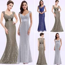 Grey Lace <b>Mermaid</b> Evening Dresses 2019 Ever Pretty Sparkle V ...