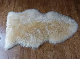 sheepskin rug cream
