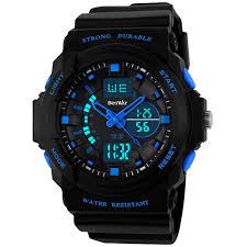 amazon com watches boys clothing shoes jewelry wrist beswlz multi function digital led quartz watch water resistant electronic sport watches for boy girls child kids gift blue