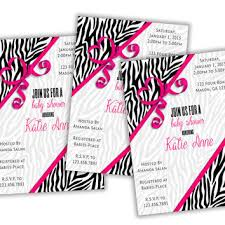 20 Best Pink And Zebra Baby Shower Invitations Images On Pinterest Pink Zebra Baby Shower Invitations