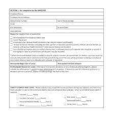 Personal Time Off Request Form Request For Leave Form Template Employee Sick Leave Form Template