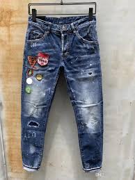 Designer Pants Mens Designer Pants New Style Casual Skinny Sweatpants Mens Designer Ripped Jeans Mid Waistline Pants Brand Mens Jeans Collage Design