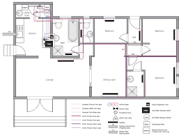 Pyramid House Plans Plumbing And Piping Plans Solution Conceptdrawcom