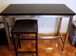 Table Glossy Ikea Stainless Steel Table For Your Home Furnishing