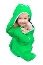 Soft, Plush, Thick and Fun Hooded Frog Animal Baby Bath Towels and ...