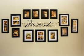 Decorations:Captivating Living Room Wall Decoration With Black Wood Frame  Picture Collage Wall Plus Qoutes Memoriam Interesting Wall Frame Ideas To  Decorate ...