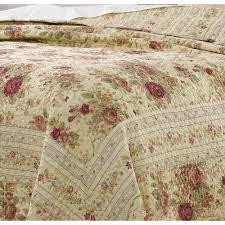 Greenland Home Antique Rose Twin Quilt Set Bedding patterer Quilts,  Bedspreads & Coverlets