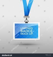 Lanyard Badge Design Lanyard Badge Id Card Template Blank Stock Vector Royalty