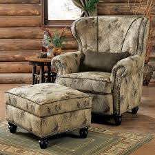 Living Room Chair With Ottoman Rustic Chairs Old Hickory Ottomans
