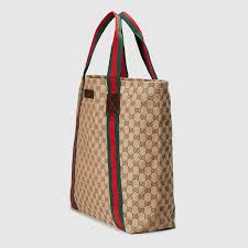 gucci tote. gucci original gg canvas tote detail 2 t