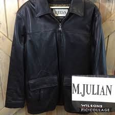 men s size medium m julian wilsons leather jacket
