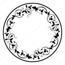fl round filigree frame stock vector