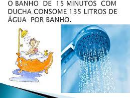 Resultado de imagem para banho demorado quanto gasta de agua