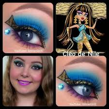 pretty eyeshadow eyeshadow makeup nile eye cleo monster high costume emmi party lies party cleo de nile makeup glitterc makeup up beauty