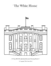 White House Coloring Page Printable Pages E ColoringPage Within In ...