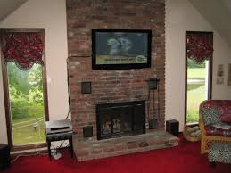 wall mount tv above brick fireplace best image voixmag