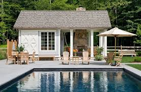 small pool house interior ideas. Simple Wooden Outdoor Chair And Umbrella Created To Complete Mesmerizing Pool House Ideas Small Interior O
