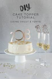 diy 2018 cake toppers straw decor using fonts and a cricut