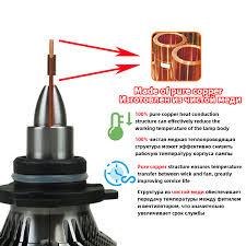 <b>2PCS</b> Mini Size H7 Led Headlight <b>H1 H4</b> H8 H9 H11 Hb3 9005 Hb4 ...