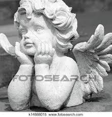 かわいい 天使 彫刻 ストックフォト写真素材