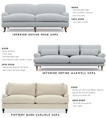 interior define rose sofa i ve liked the interior define rose sofa for a long time it s just a really pretty english roll arm and the isn t too bad