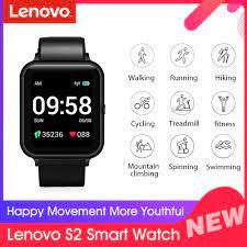 Küresel sürüm Lenovo S2 akıllı İzle 1.4 inç 240x240p spor izci bant kalori  pedometre uyku monitör kalp hızı çağrı ipuçları Smart Watches