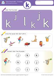 Order hard copies of our phonics monster series on amazon.com! Letter Recognition Phonics Worksheet K Lowercase Super Simple
