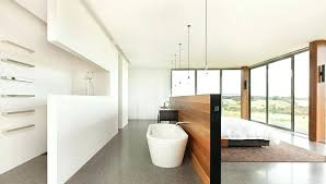 Open Plan Bathroom Open Plan Bathrooms Are Practical And Offer A Different Bedroom  Bathroom Living Experience . Open Plan Bathroom ...