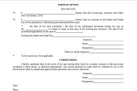 Download 40th CPC Option Form And Conditions To Exercising Option Impressive Increment Form