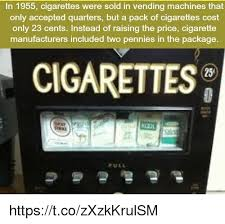 Quarter Vending Machine Near Me Fascinating In 48 Cigarettes Were Sold In Vending Machines That Only Accepted
