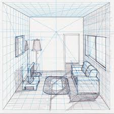 One Point Perspective Room Drawing At Getdrawings Com Free For