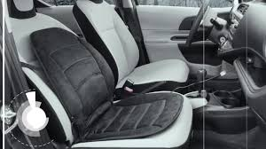 watch the for wagan deluxe velour heated seat cushion in black