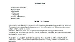 Orthodontic Assistant Resume Sample Professional Orthodontic Assistant Resume Templates To