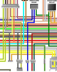 suzuki gsf1200 colour motorcycle wiring loom diagrams suzuki gsf1200 bandit 96 99 uk spec colour wiring diagram
