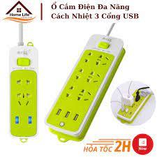 Ổ Cắm Điện Đa Năng Cách Nhiệt, Chống Giật Điện 3 Cổng USB - Tiện Dụng - Ổ  cắm điện