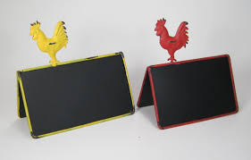 double sided en rooster chalkboard table talkers country style set of 2