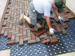 pavers over concrete slab awesome installation of stone