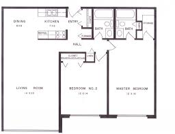 2 Bedroom 2 Bath Apartment Floor Plans Perfect 12 King Edward Two ...