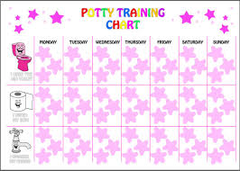 Reusable Girls Potty Training Reward Chart 63 Star Stickers And A4 Chart