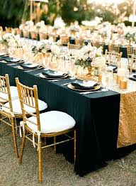 black tablecloth for 60 inch round table shimmering wedding makes a bold statement round table decor